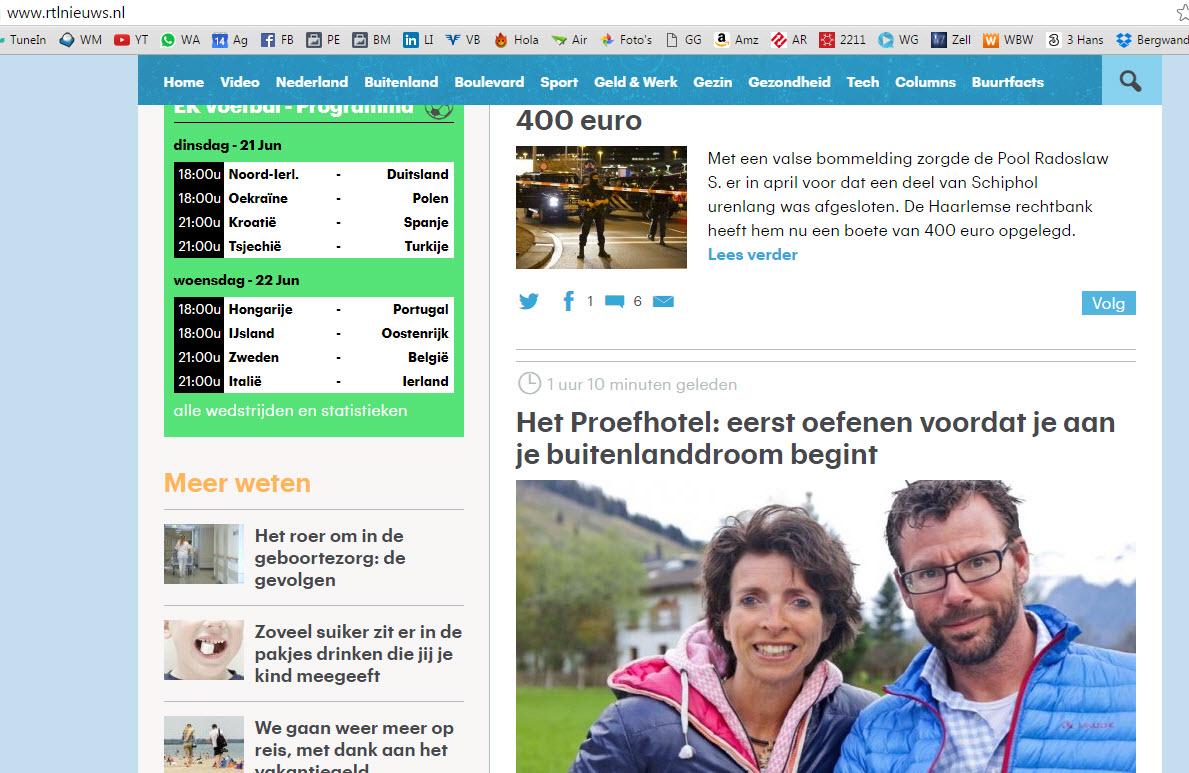 Proefhotel op RTLnieuws.nl
