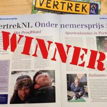 Proefhotel winnaar VertrekNL Ondernemersprijs 2016