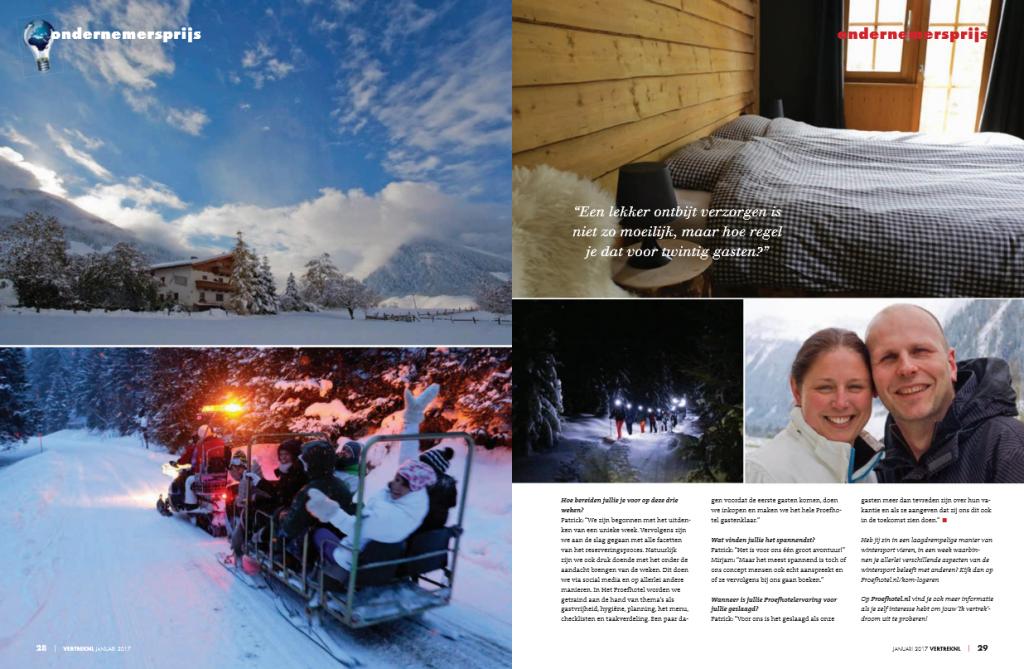 VertrekNL Magazine januari 2017 - Proefhotel 2